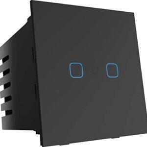 Smart Life | Wifi + Bluetooth 2 Touch Glass Smart Switch (B)