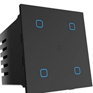 Smart Life | Wifi + Bluetooth 4 Touch Glass Smart Switch (B)
